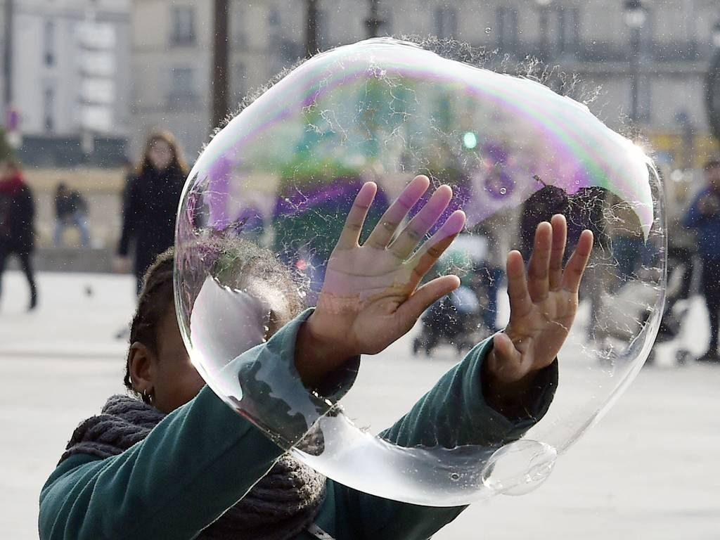 фокус с пузырем