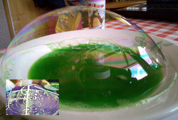 пузырь в тарелке